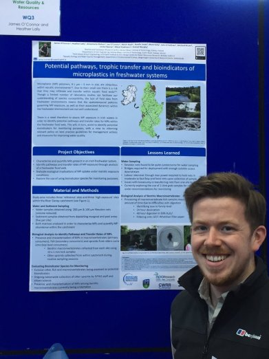 James after winning the Richard Fitzgerald Poster Prize for Best Aquatic Environmental Presentation